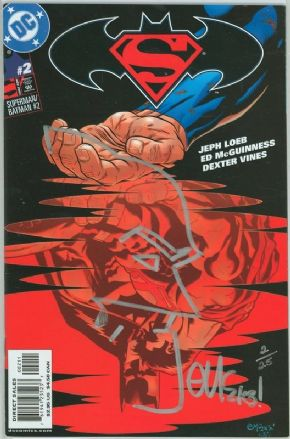 Superman Batman #2 Dynamic Forces Signed Remarked McGuinness COA #2 Ltd 25 DC Comics